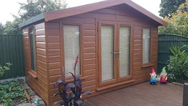 Manufacturers of Summer Houses and made to measure Sheds.