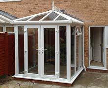 Glass to ground Conservatory.